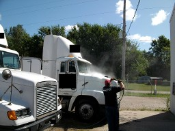 commercial truck washing